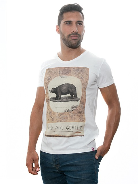 "Men's T-Shirt | Exclusive Design | ""Wild Gentle"""
