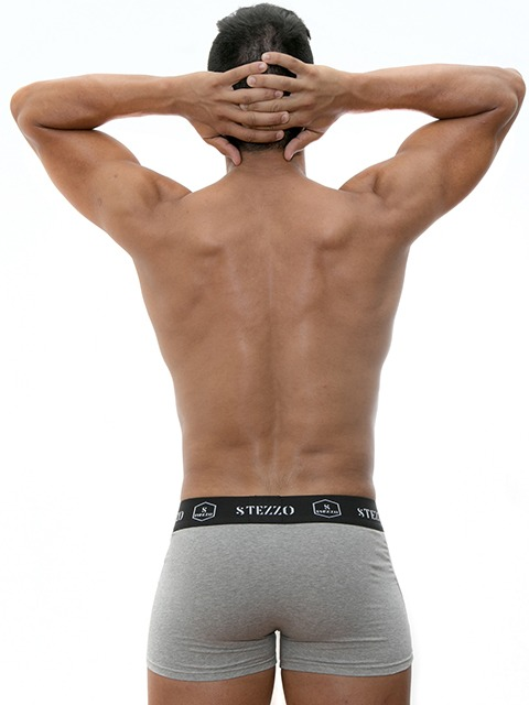 Men's-Underwear-Grey-Boxers