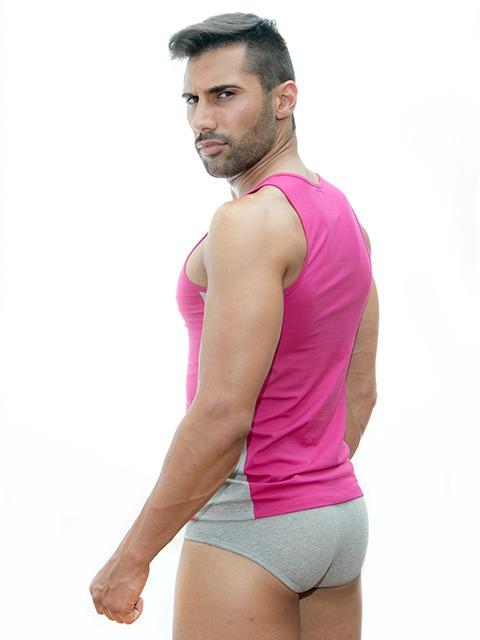 Stezzo Men's Underwear | Tank Top Slim Fit Sangria